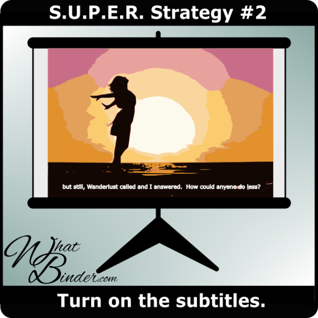 Super Strategy 2 - Turn on the Subtitles